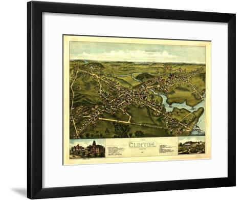 Clinton, Connecticut - Panoramic Map-Lantern Press-Framed Art Print