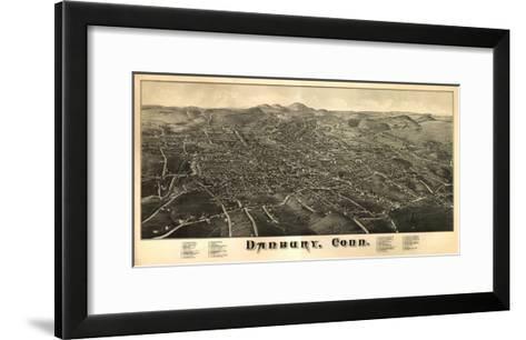 Danbury, Connecticut - Panoramic Map-Lantern Press-Framed Art Print