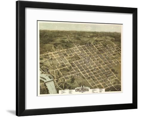 Columbia, South Carolina - Panoramic Map-Lantern Press-Framed Art Print