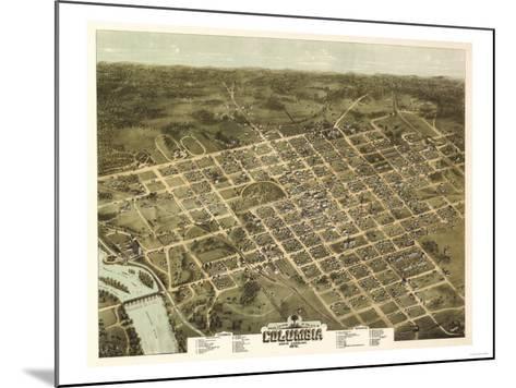 Columbia, South Carolina - Panoramic Map-Lantern Press-Mounted Art Print