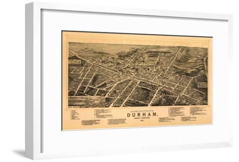 Durham, North Carolina - Panoramic Map-Lantern Press-Framed Art Print