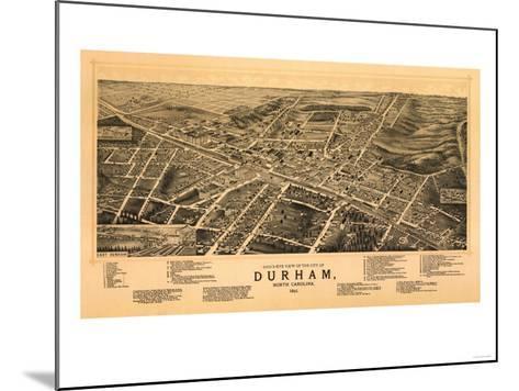 Durham, North Carolina - Panoramic Map-Lantern Press-Mounted Art Print