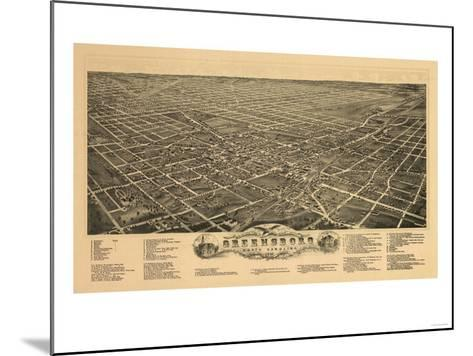 Greensboro, North Carolina - Panoramic Map-Lantern Press-Mounted Art Print