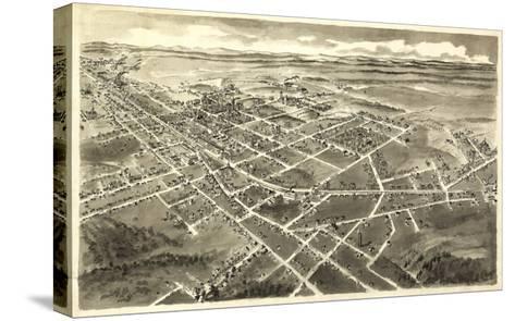 Hickory, North Carolina - Panoramic Map-Lantern Press-Stretched Canvas Print