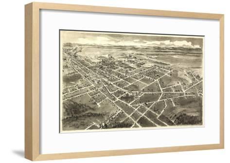 Hickory, North Carolina - Panoramic Map-Lantern Press-Framed Art Print