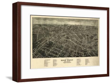 High Point, North Carolina - Panoramic Map-Lantern Press-Framed Art Print