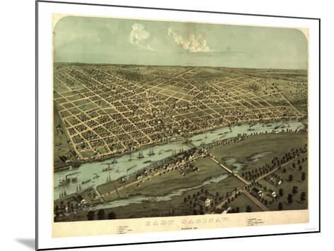 East Saginaw, Michigan - Panoramic Map-Lantern Press-Mounted Art Print