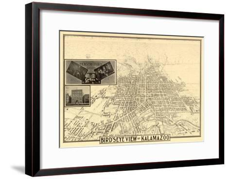 Kalamazoo, Michigan - Panoramic Map-Lantern Press-Framed Art Print