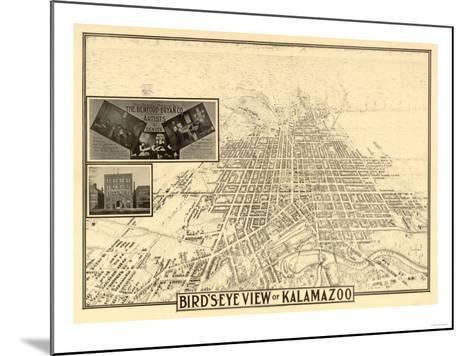 Kalamazoo, Michigan - Panoramic Map-Lantern Press-Mounted Art Print