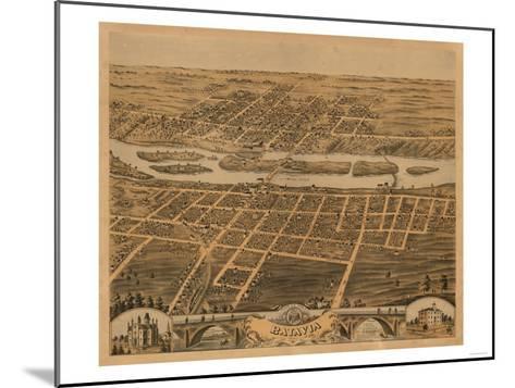 Batavia, Illinois - Panoramic Map-Lantern Press-Mounted Art Print