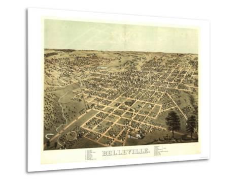 Belleville, Illinois - Panoramic Map-Lantern Press-Metal Print
