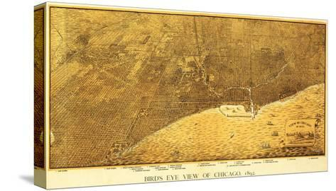 Chicago, Illinois - Panoramic Map No. 1-Lantern Press-Stretched Canvas Print