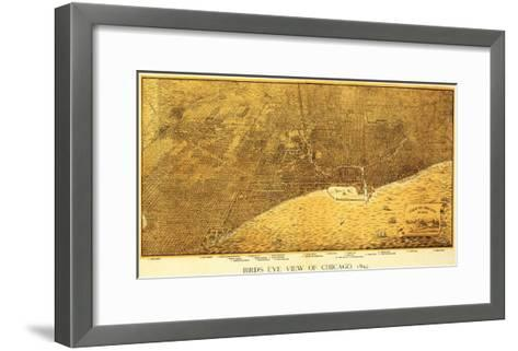 Chicago, Illinois - Panoramic Map No. 1-Lantern Press-Framed Art Print