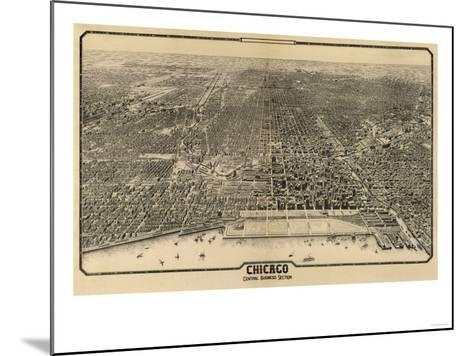 Chicago, Illinois - Panoramic Map No. 1-Lantern Press-Mounted Art Print