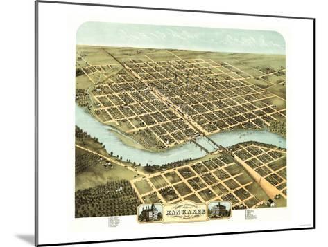 Kankakee, Illinois - Panoramic Map-Lantern Press-Mounted Art Print
