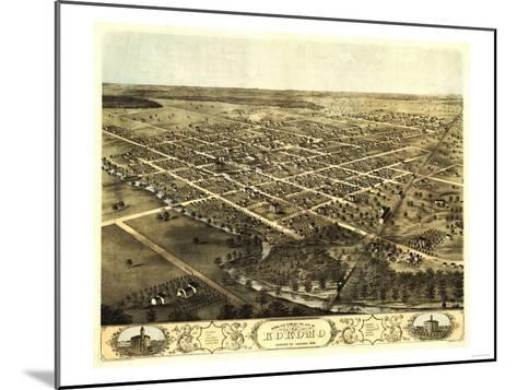 Kokomo, Indiana - Panoramic Map-Lantern Press-Mounted Art Print