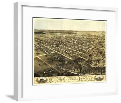 Kokomo, Indiana - Panoramic Map-Lantern Press-Framed Art Print