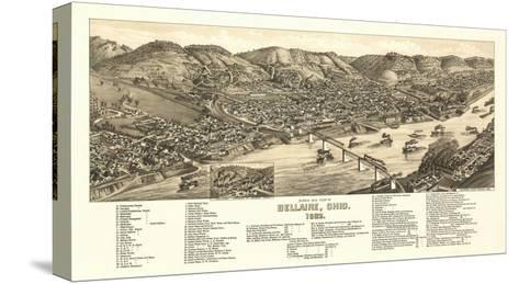 Bellaire, Ohio - Panoramic Map-Lantern Press-Stretched Canvas Print