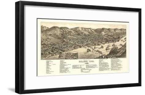 Bellaire, Ohio - Panoramic Map-Lantern Press-Framed Art Print
