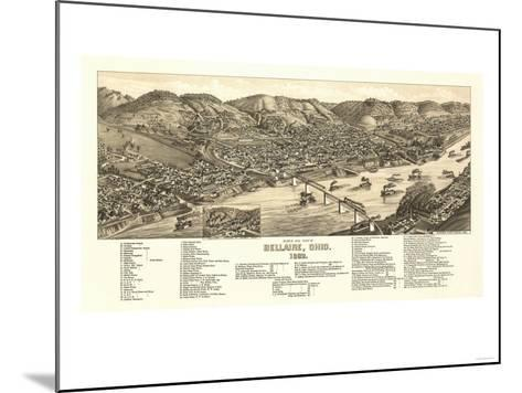 Bellaire, Ohio - Panoramic Map-Lantern Press-Mounted Art Print