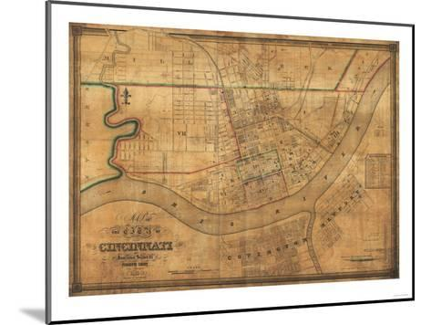 Cincinnati, Ohio - Panoramic Map-Lantern Press-Mounted Art Print