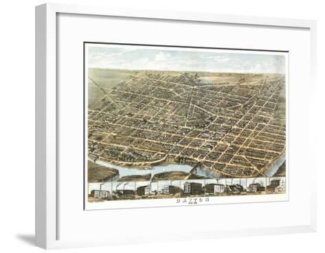 Dayton, Ohio - Panoramic Map-Lantern Press-Framed Art Print