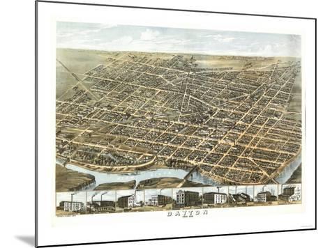 Dayton, Ohio - Panoramic Map-Lantern Press-Mounted Art Print