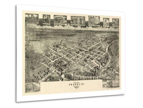 Franklin, Virginia - Panoramic Map-Lantern Press-Metal Print