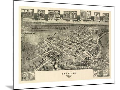 Franklin, Virginia - Panoramic Map-Lantern Press-Mounted Art Print