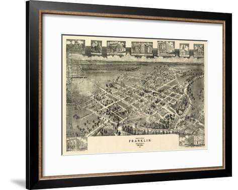Franklin, Virginia - Panoramic Map-Lantern Press-Framed Art Print