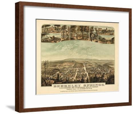 Berkeley Springs, West Virginia - Panoramic Map-Lantern Press-Framed Art Print