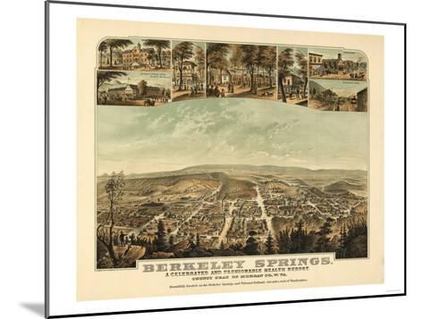 Berkeley Springs, West Virginia - Panoramic Map-Lantern Press-Mounted Art Print