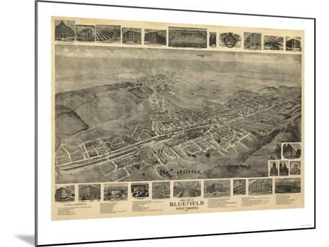 Bluefield, West Virginia - Panoramic Map-Lantern Press-Mounted Art Print