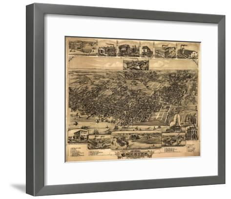 Chester, Pennsylvania - Panoramic Map-Lantern Press-Framed Art Print