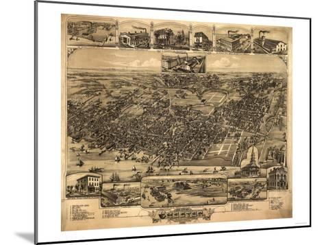 Chester, Pennsylvania - Panoramic Map-Lantern Press-Mounted Art Print