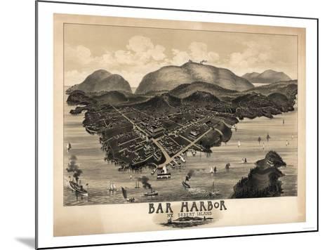 Bar Harbor, Maine - Panoramic Map-Lantern Press-Mounted Art Print