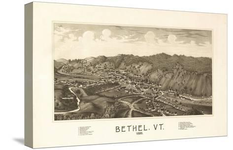 Bethel, Vermont - Panoramic Map-Lantern Press-Stretched Canvas Print