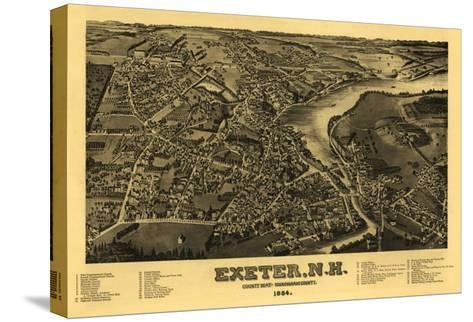 Exeter, New Hampshire - Panoramic Map-Lantern Press-Stretched Canvas Print