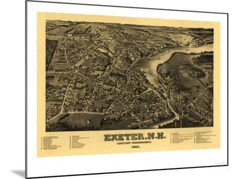 Exeter, New Hampshire - Panoramic Map-Lantern Press-Mounted Art Print