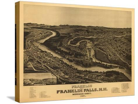 Franklin, New Hampshire - Panoramic Map-Lantern Press-Stretched Canvas Print