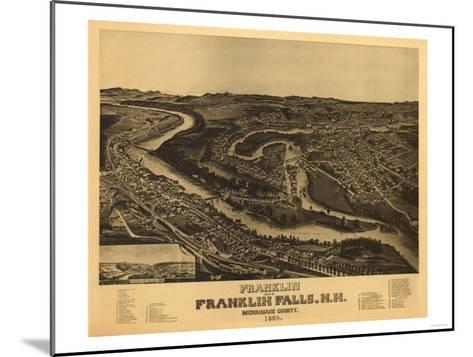 Franklin, New Hampshire - Panoramic Map-Lantern Press-Mounted Art Print