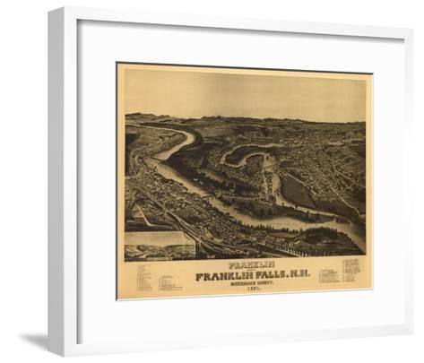 Franklin, New Hampshire - Panoramic Map-Lantern Press-Framed Art Print
