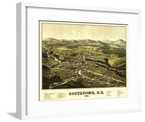 Goffstown, New Hampshire - Panoramic Map-Lantern Press-Framed Art Print