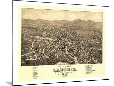 Laconia, New Hampshire - Panoramic Map-Lantern Press-Mounted Art Print