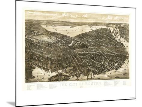 Boston, Massachusetts - Panoramic Map-Lantern Press-Mounted Art Print