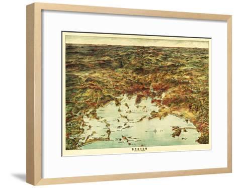 Boston, Massachusetts - Panoramic Map No. 1-Lantern Press-Framed Art Print