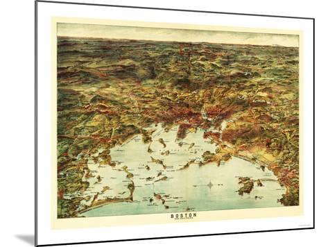 Boston, Massachusetts - Panoramic Map No. 1-Lantern Press-Mounted Art Print
