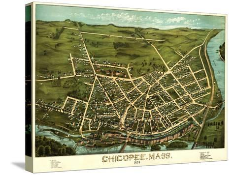 Chicopee, Massachusetts - Panoramic Map-Lantern Press-Stretched Canvas Print