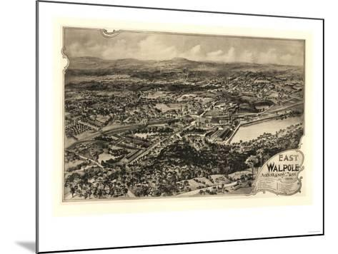 East Walpole, Massachusetts - Panoramic Map-Lantern Press-Mounted Art Print