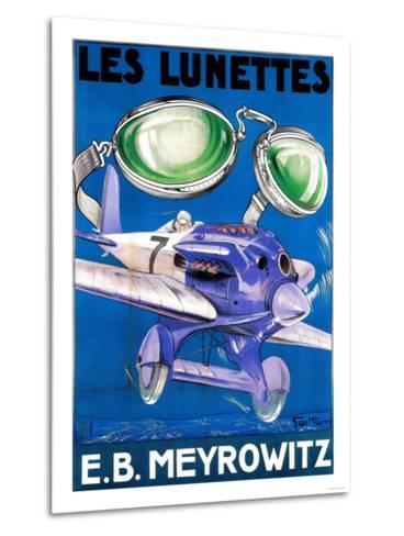 France - E.B. Meyrowitz Flying Goggles Advertisement Poster-Lantern Press-Metal Print
